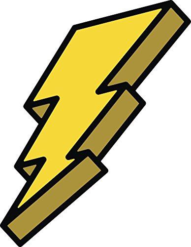 Comic Lighting Bolt Flash Power Ranger Cartoon Icon Vinyl Decal Sticker (12