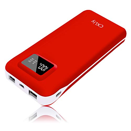 Portable Charger Power Bank High Capacity 24000mAh USB C Battery Pack Phone Charger Dual Output 2 Input Port Small Size LCD Display Compatible with Smart Phone, Tablet and Android Device (Lcd Color Screen Ipod 4 Touch)