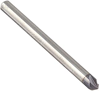 """product image for Kodiak Cutting Tools KCT253257 USA Made Solid Carbide Chamfer Mill, AlTiN Coated, 90 Degree, 4 Flute, 1/8"""" Shank, 1/8"""" Diameter, 1-1/2"""" Overall Length"""