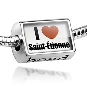 """Beads """"I Love Saint-Etienne"""" region: Loire, Rhone-Alpes - Pandora Charm & Bracelet Compatible"""