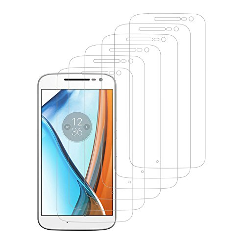 iProtect 6er-Set Folien Schutzfolien 6x Displayfolien klar für Moto G4
