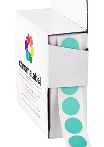 Aqua Stickers - 1/2 inch Color-Code Dot Labels | 1,000/Dispenser Box (Aqua)