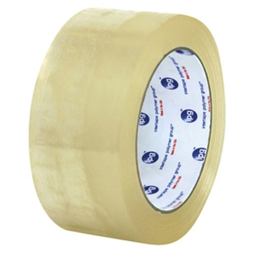 Intertape Polymer Group F1192 9100 Corru-Grip Premium Hot Melt Carton Sealing Tape, 2.5 mil Thick, 100M Length x 48mm Width, Clear, Case of 36 Rolls by Intertape Polymer Group