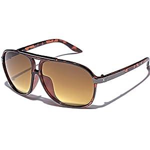 Men's Women's Retro Vintage 80s Classic Fashion Designer Aviator Sunglasses Tortoise
