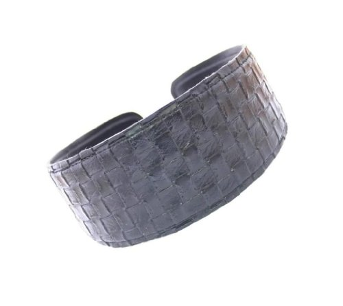 Caravan Wide And Comfortable Leather Basket Weave Headband In Colors ()