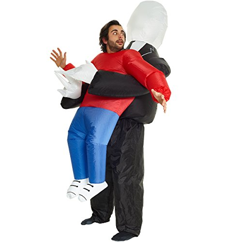 Slenderman Pick Me Up Inflatable Blow Up Costume- One size fits most -