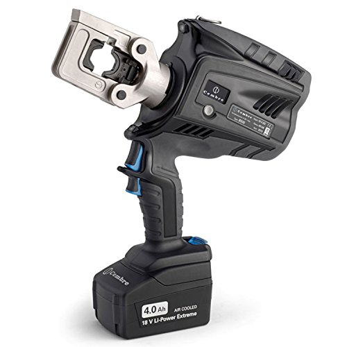 ASI B500A 2596211 Battery Powered Crimp Tool with Rechargeable, 7.1 Tons, 18.0V, 4.0Ah Li-Ion Batteries, 3/0 AWG-250 MCM