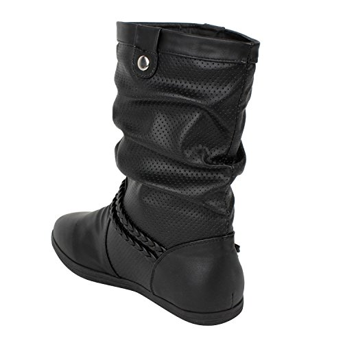 Japado - Botas plisadas Mujer Negro - negro