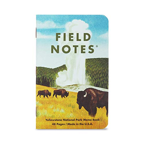 Field Notes: National Parks Series (Series C - Rocky Mountain, Great Smoky Mountains, Yellowstone) - Graph Paper Memo Book 3-Pack - 3.5 x 5.5 Inch