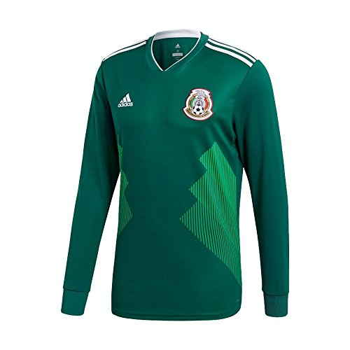 adidas Mexico Home Long Sleeve Jersey [CGREEN] (Home Long Sleeve Replica Jersey)