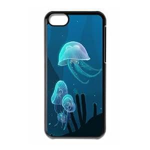IPhone 5C Cases Marine Animal X2, Protective Case for Iphone 5 - [Black] Okaycosama