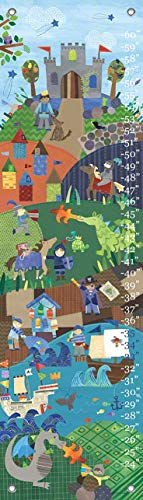 Oopsy Daisy Growth Charts Knights and Dragons by Jill McDonald, 12 by 42-Inch ()