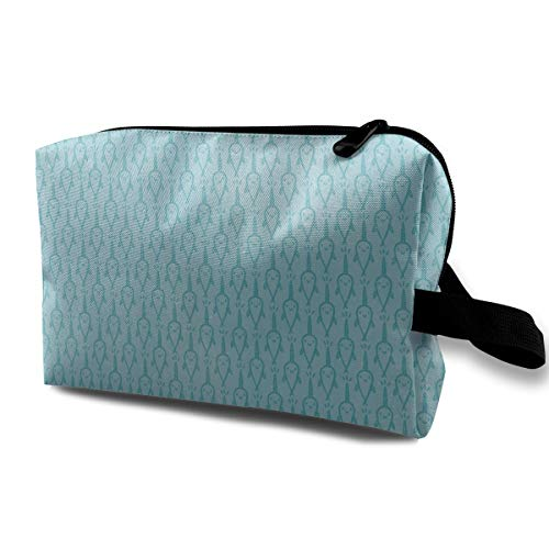 Retro Cute Narwhal Makeup Bag Case Portable Comestic Holder Handy Travel Storage Pouch 10