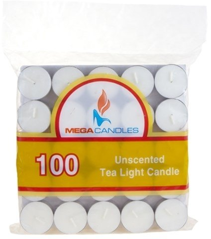 DDI 1996416 100-Piece Unscented Tea Light Candle in Bag - White Case of 12