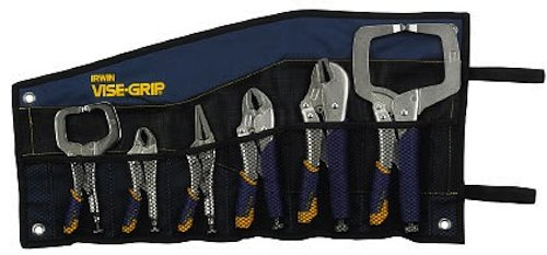 IRWIN 2076709 Vise-Grip Fast Release Locking Pliers Kitbag Set, 6-Piece by IRWIN