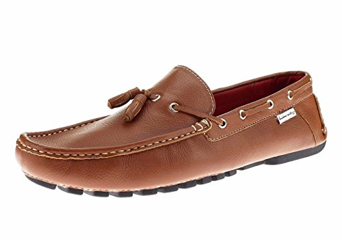 Natazzi Mens Air Grant Driver In Pelle Scarpe Nappa Driving Slip-on Mocassino Tan