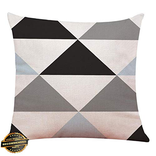 Kaputar Geometric Cotton Pillow Case Waist Throw Cushion Cover Home Sofa Decor Latest Red Geometric#6 | Style PLWCS-182012066 -