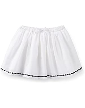 Baby Girls' Poplin Embroidered Skirt