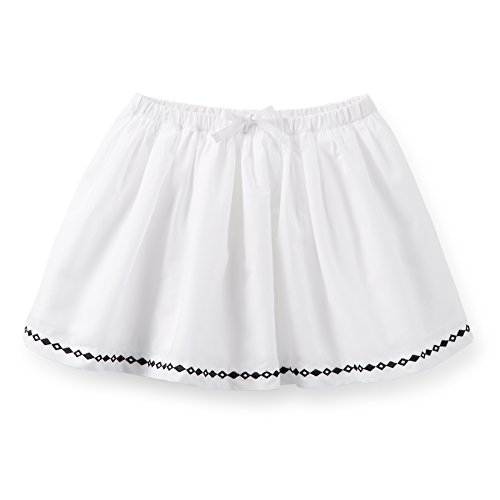Embroidered Poplin Skirt - Carter's Little Girls' Poplin Embroidered Skirt (2T, White/Black)