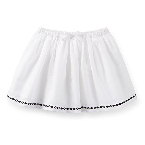 Embroidered Poplin Skirt - Carter's Little Girls' Poplin Embroidered Skirt (2T, White/Black)