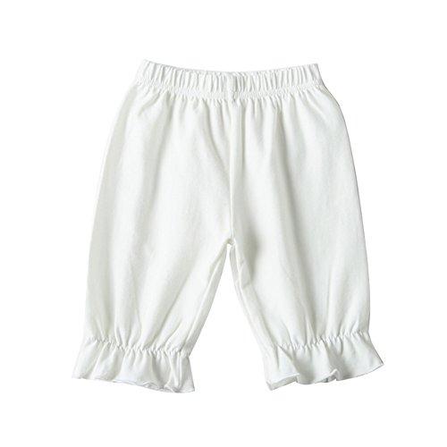 Tianzek Little Girls Ruffle Cotton Bottom Bloomers Pantaloon Harem Pants Knee -