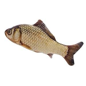 Amazon.com: Gato menta peces de peluche forma de pez, para ...