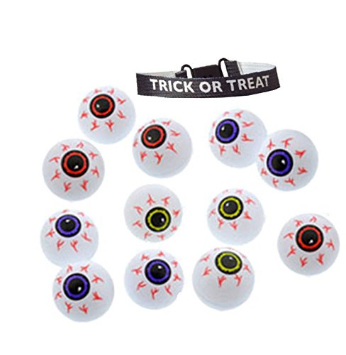 Set of 24 Plastic Halloween (Halloween Eyeballs)