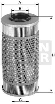 Mann Filter H432 filtro de aceite