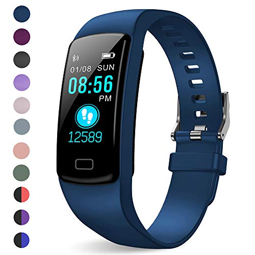 LEKOO Fitness Tracker, Activity Trackers Health Exercise Watch with Heart Rate Monitor and Sleep Monitor, Smart Band Calorie Counter, Step Counter, Pedometer Walking for Kids Girls and Boys