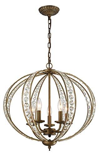 - Elizabethan 5 Light Chandelier in Dark Bronze