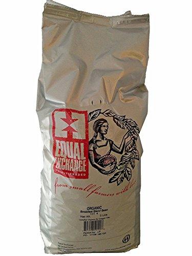Equal Exchange USDA Organic Breakfast Blend Whole Bean Coffee- 5 Lb Bag
