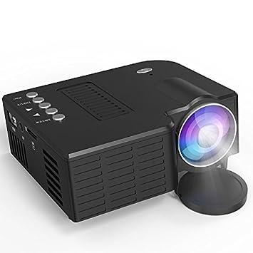 2018 Actualiza lisiert LCD Mini Proyector, Proyector, LED Proyector Soporte 1080P con HDMI/USB/VGA/AV/Laptop/Gratis para Xbox/iPhone/Smartphone/PC/TV ...