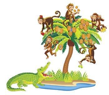 Five Monkeys Sitting In A Tree Precut Felt Figures for Flannel Board Stories by Little Folk Visuals - Monkey Felt