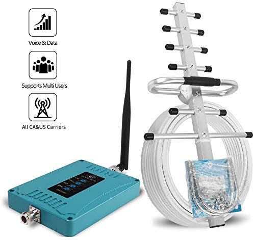5 Band Cell Phone Signal Booster for Home and Office – Work on All U.S. Carriers Verizon AT&T T-Mobile Sprint – Cellular…