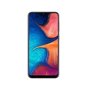 Samsung Galaxy A20 SM-A205GDS 32GB, Dual Sim, 6.4″ Infinity-V Display, Dual Rear Camera, 3GB RAM, GSM Unlocked International Model, No Warranty (Red)