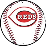 Cincinnati Reds 12 inch Baseball Style Metal Circle Sign