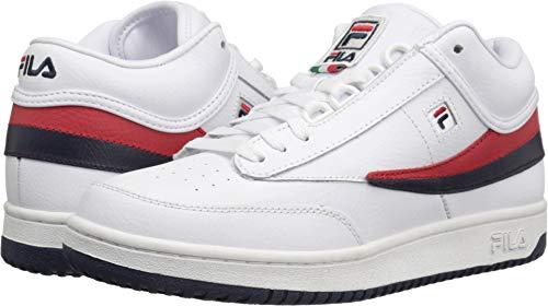 Fila Men's T-1 MID Fashion Sneaker White Navy Red, 11 M - Classic Filas