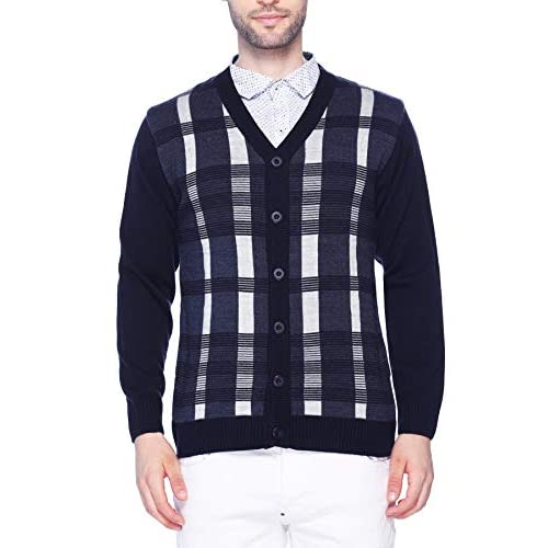 4185UsNMPvL. SS500  - aarbee Men's Full Sleeve Button Sweater