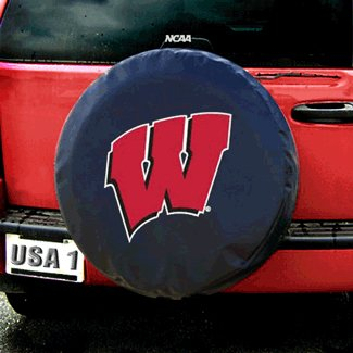 sconsin Badgers NCAA Spare Tire Cover (Black) ()