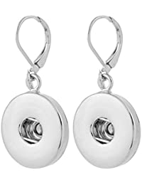 Interchangeable Snap Jewelry Lever Back Earrings Holds 18-20mm Snaps