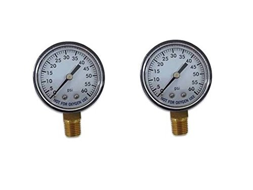 Spa Filter Pressure Gauge (2 Pack Pool Spa Filter Water Pressure Gauge 0-60 PSI 1/4
