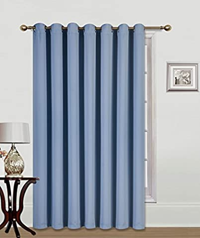 GorgeousHomeLinen (K100) 1 PC Extra Wide Room Divider Solid Grommet Top Heavy Thick Thermal Drape Curtain Panel, 100