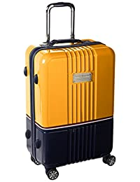 Tommy Hilfiger Duo Chrome 24-Inch Spinner Luggage, Yellow/Navy, One Size