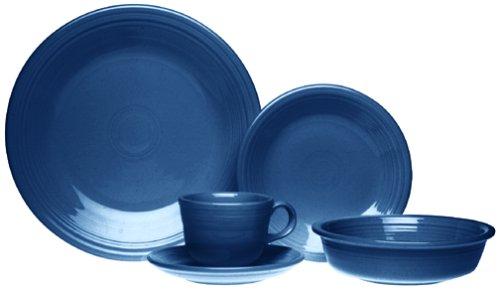 Fiesta 20-Piece, Service for 4 Dinnerware Set, (Blue 20 Piece Place Setting)