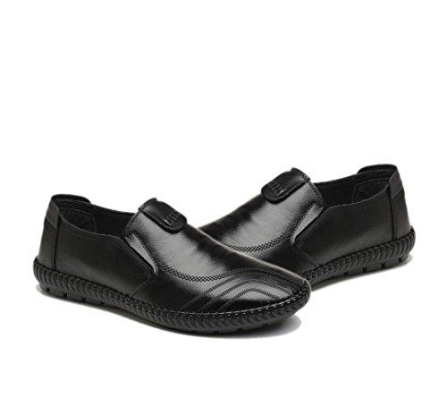 Black Y Oxford Hombres Primavera Cuero Zapatos De Transpirable Otoño Guisantes Playa ABfnvq
