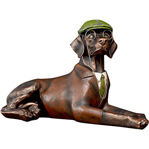 装飾材料 犬の像家の樹脂の装飾柔らかい装飾の写真の小道具のモデルルームの装飾の装飾 (Color : Brown, Size : 62*38*28cm) 62*38*28cm Brown B07JZY4NSD
