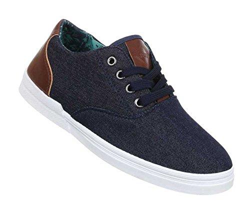 Herren Halbschuhe Schuhe Sneaker Sportschuhe Streetwear Freizeitschuhe Schwarz Blau 40 41 42 43 44 45 Dunkelblau