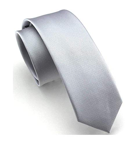 Tall Men Boy Light Grey Neckties For Men Suit Fitness Dating Silk Tie Gift Ideal