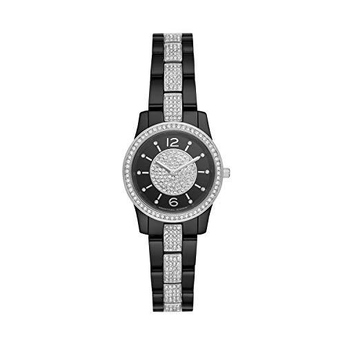 Michael Kors Women Runway Quartz Stainless Steel Black with Black Dial Watch MK6620