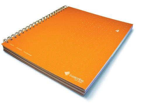 Livescribe 8.5 x 11 3-Subject Notebook #4 (Orange)